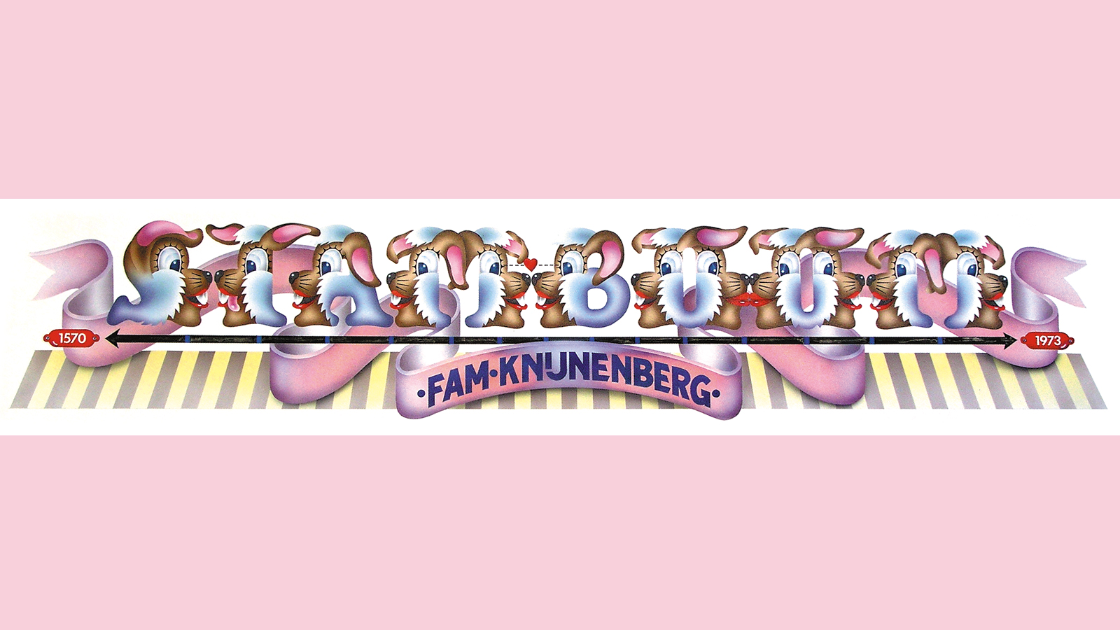 Swip Stolk, airbrushed cover for Knijnenberg Family Tree (STAMBOOM)