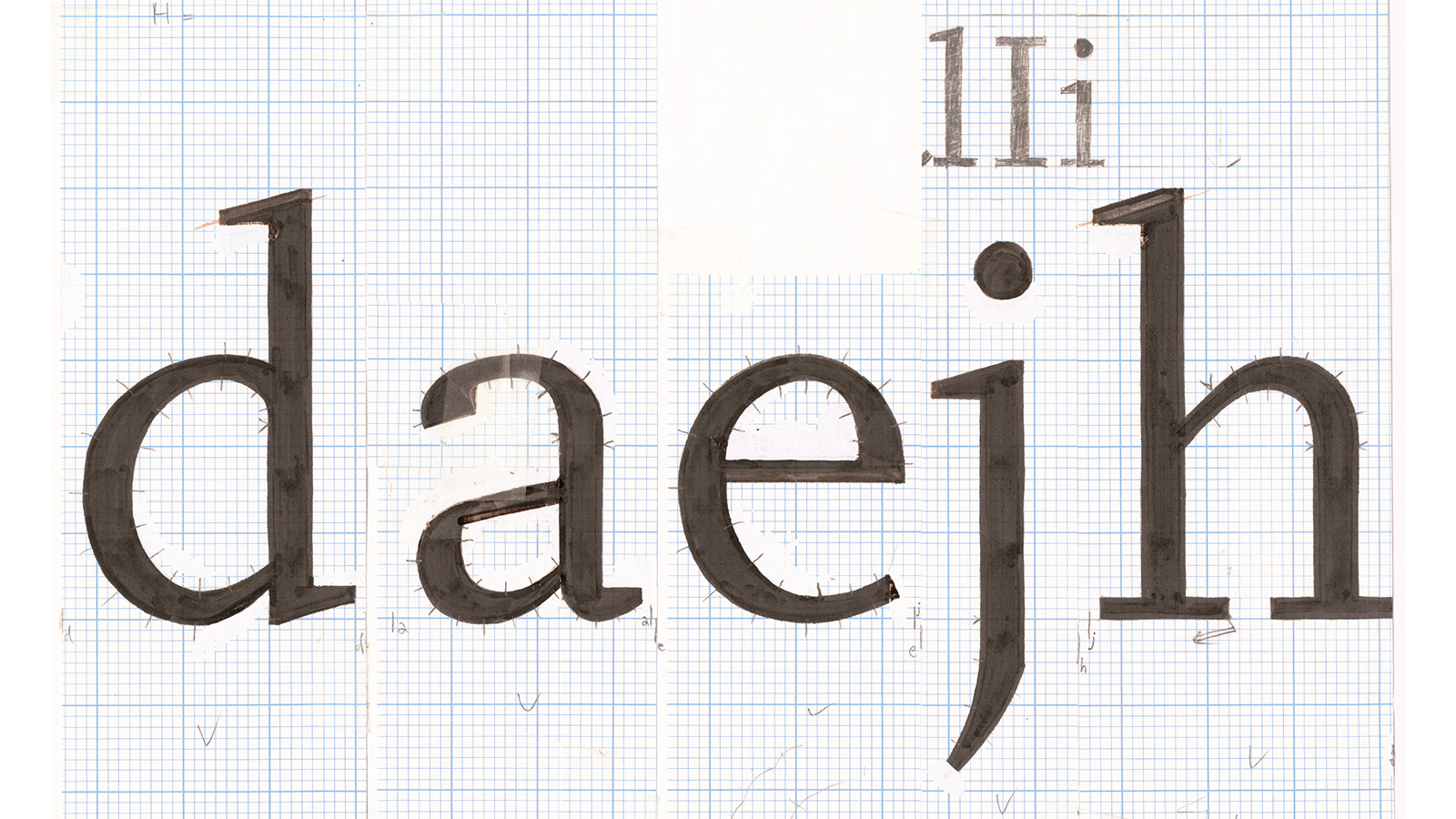 Martin Majoor, drawing for Scala typeface